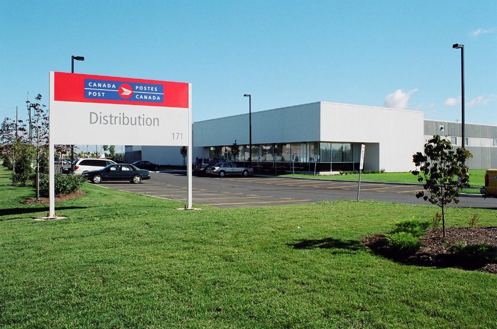North Brampton Postal Sorting Facility Front Entrance